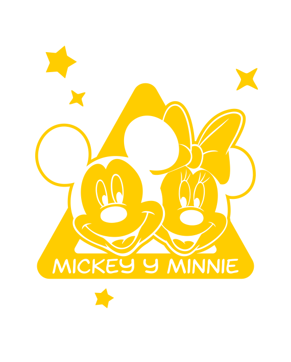 bebea bordo mickey y minnie mouse