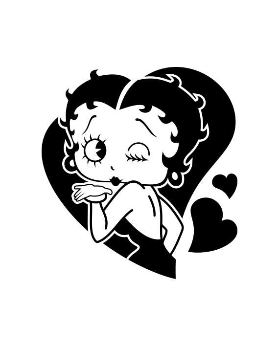 Pegatina Betty Boop Corazón Adhesivosnatos