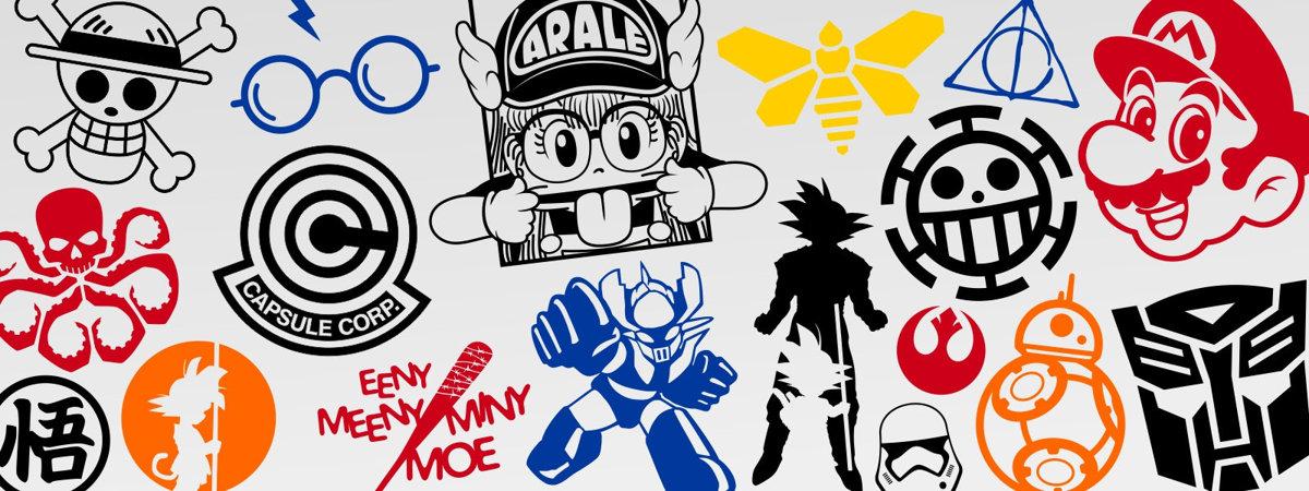 Pegatina Goku Siluetas Dragon Ball Adhesivosnatos