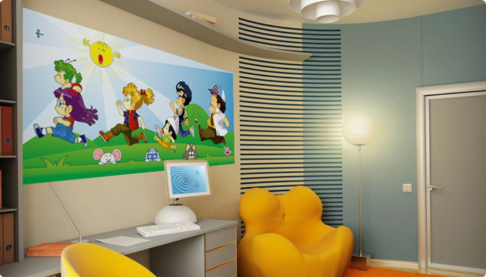 Vinilo-mural-Dr-Slump-todos-corren