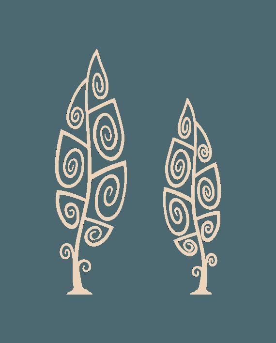 arboles en espiral vinilo decorativo