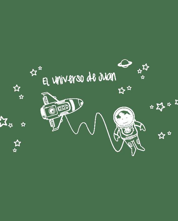 vinilo infantil astronauta universo personalizado
