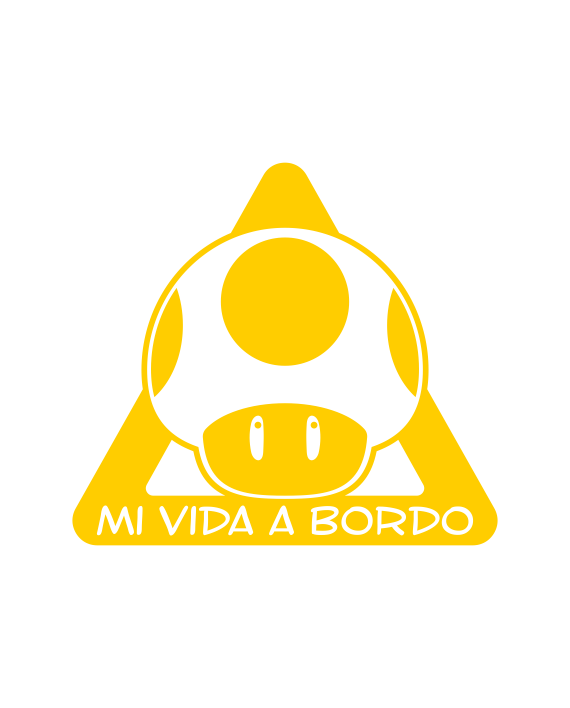 pegatina bebé a bordo 1 up mario bros
