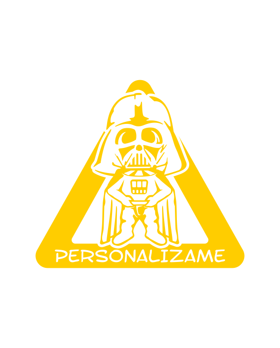 pegatina bebe a bordo darth vader star wars personalizable