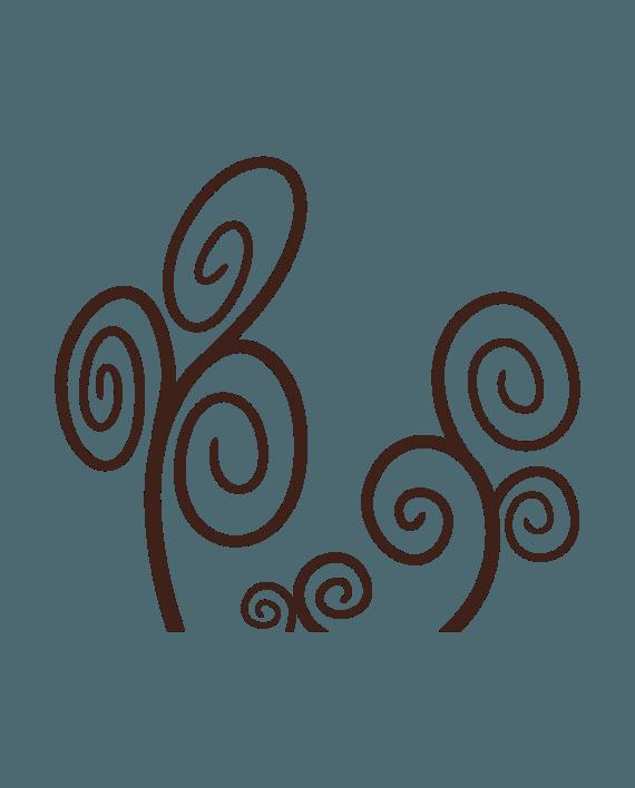 vinilo decorativo espirales natura