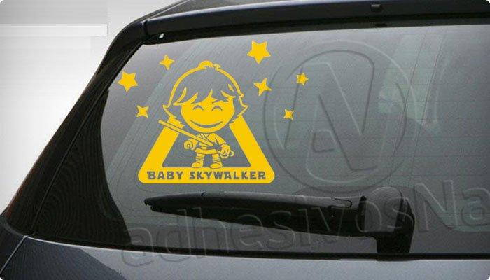 pegatina bebe a bordo star wars luke skywalker