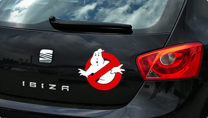 pegatina cazafantasmas vinilo ghostbusters
