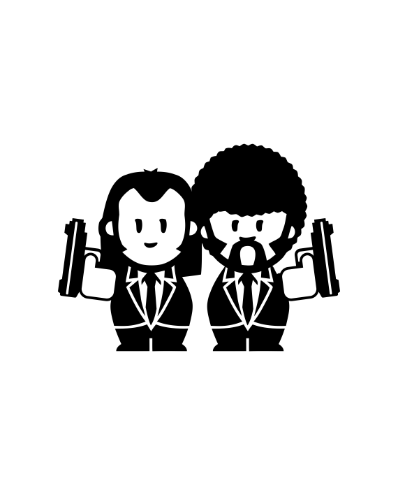 pegatina pulp fiction vincent and jules