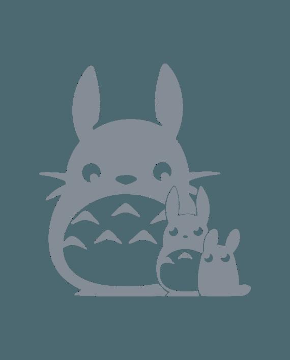 pegatina totoro familia