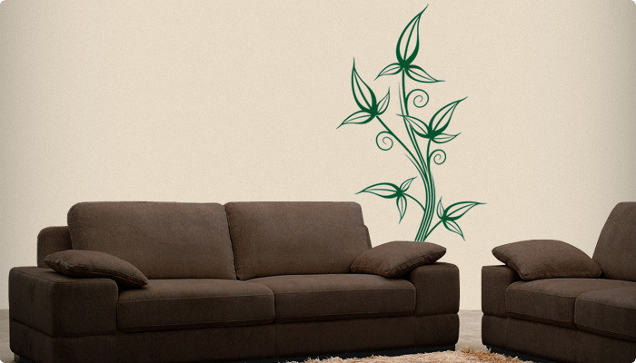 vinilo decorativo vegetación