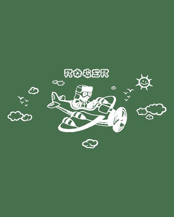 vinilo aviador infantil