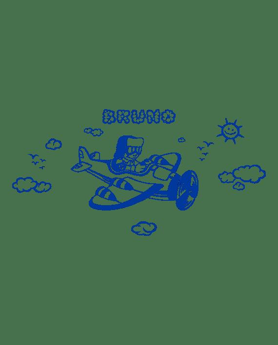 aviador infantil vinilo