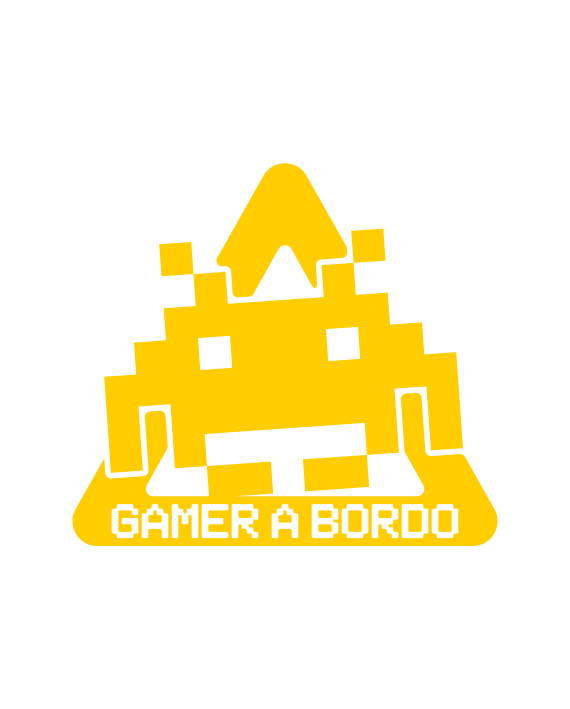pegatina bebe a bordo gamer space invaders