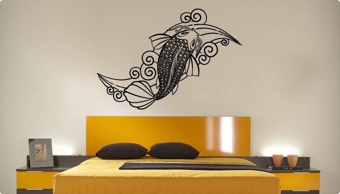 vinilo decorativo carpa koi