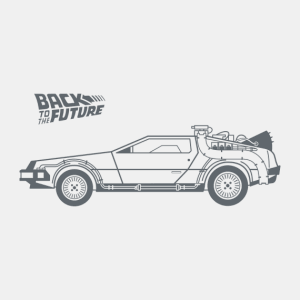 delorean vinilo decorativo regreso al futuro