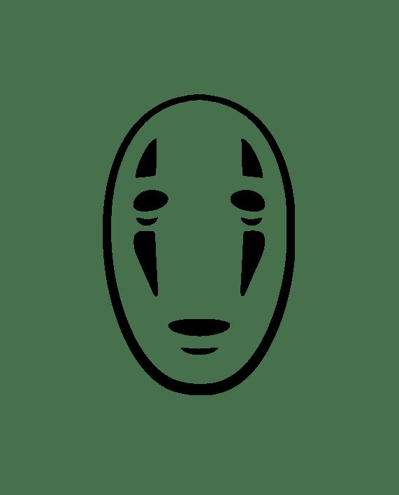 mascara fantasma viaje chihiro pegatina