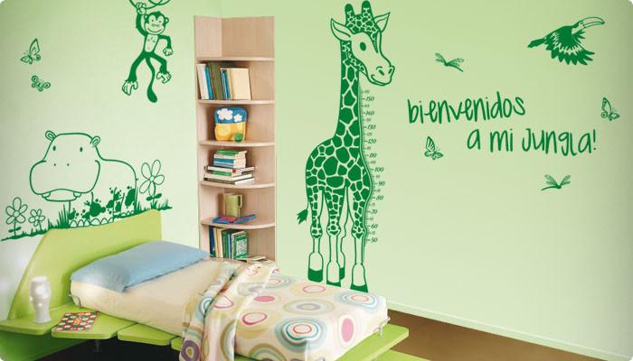 vinilo decorativo infantil jungla personalizada