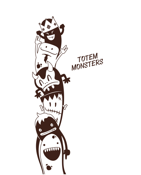 totem monster vinilo decorativo