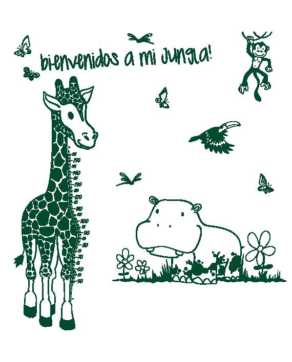 selva personalizada jungla vinilo infantil