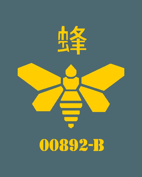 abeja bidón metilamina pegatina breaking bad
