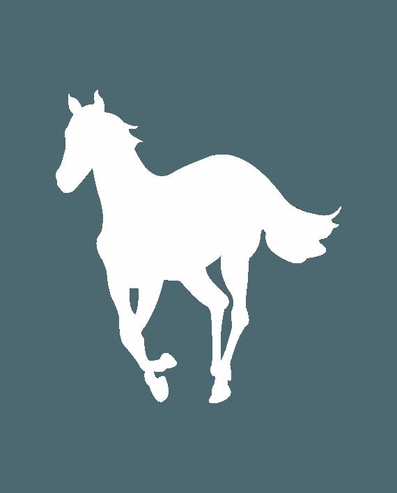 pegatina white pony deftones de vinilo