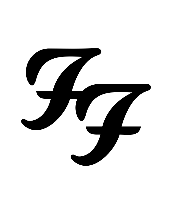 pegatina foo fighters logo adhesivosnatos