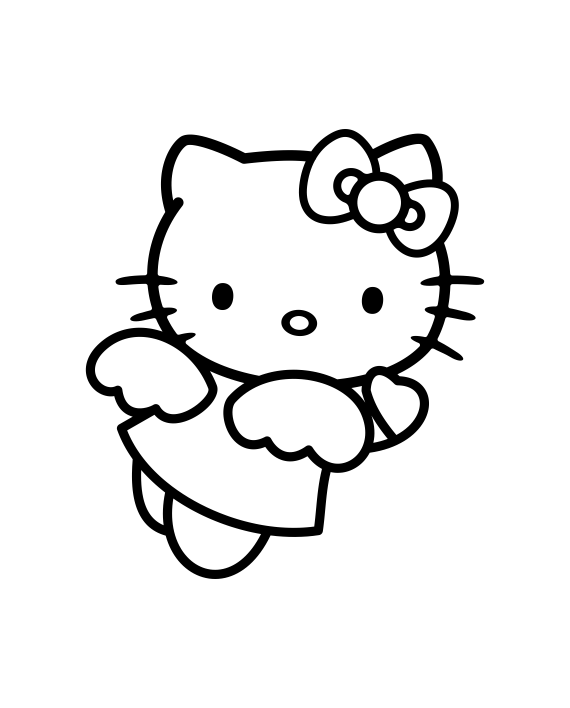 pegatina hello kitty alas vinilo