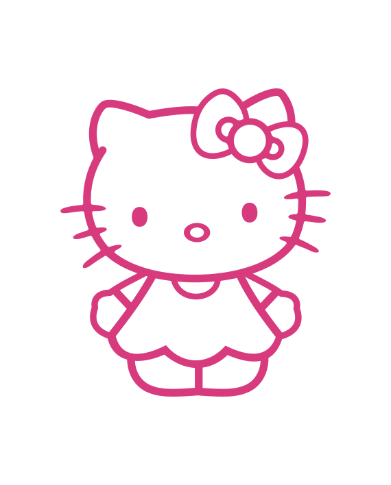Pegatina hello kitty hk2 adhesivosnatos for Vinilo hello kitty