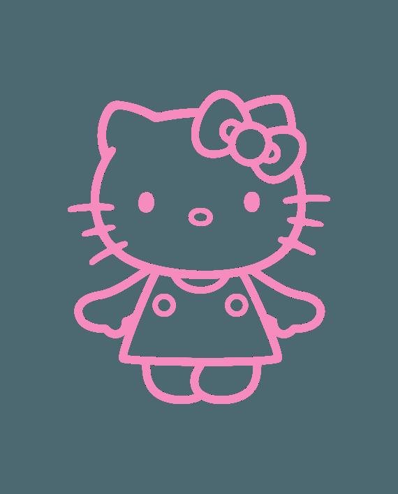 pegatina hello kitty vinilo