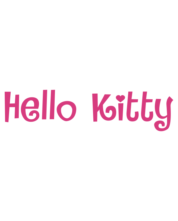 pegatina hello kitty letras vinilo
