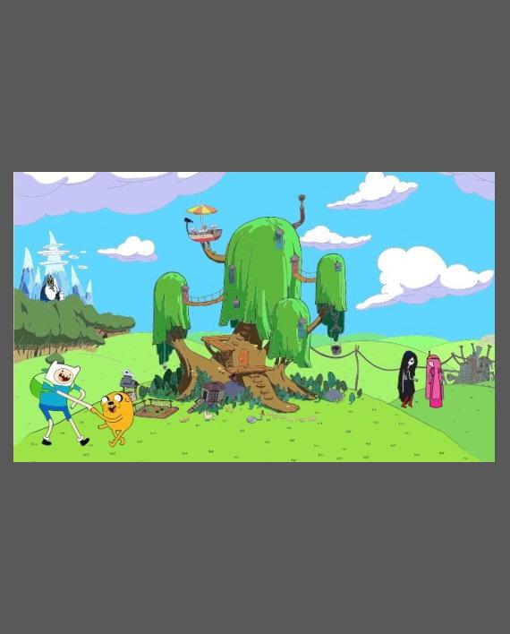 hora de aventuras mural impreso