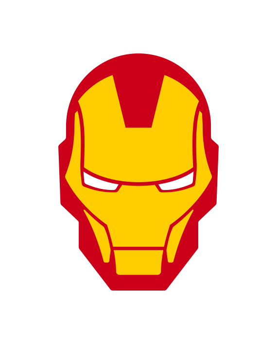 pegatina iron man 2 colores