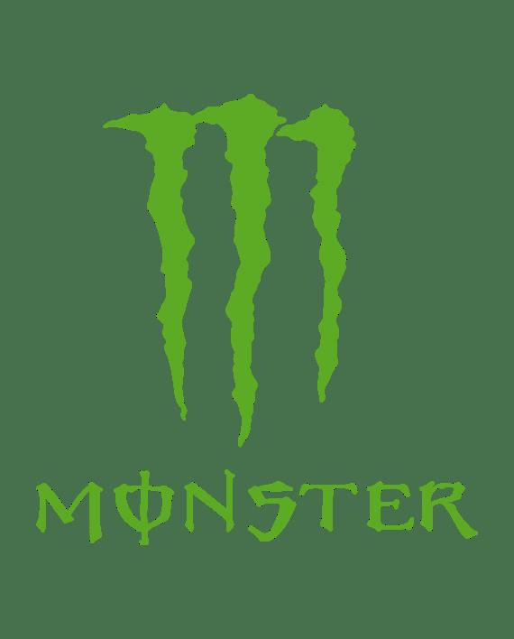 pegatina monster logo garras letras