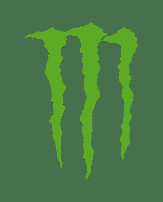 pegatina monster logo garras