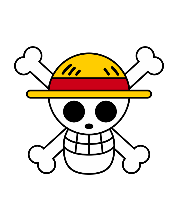pegatina one piece luffy