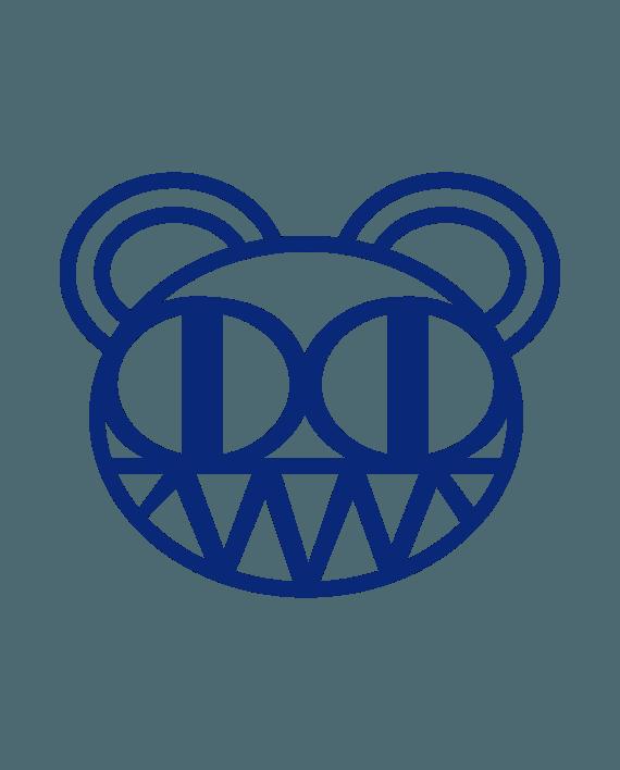 pegatina radiohead bear vinilo