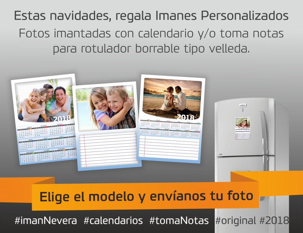 iman nevera foto calendario notas original