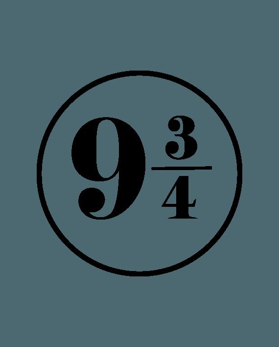 pegatina harry potter anden 9 y 3 cuartos