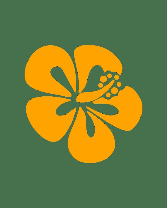 pegatina hibiscus flor