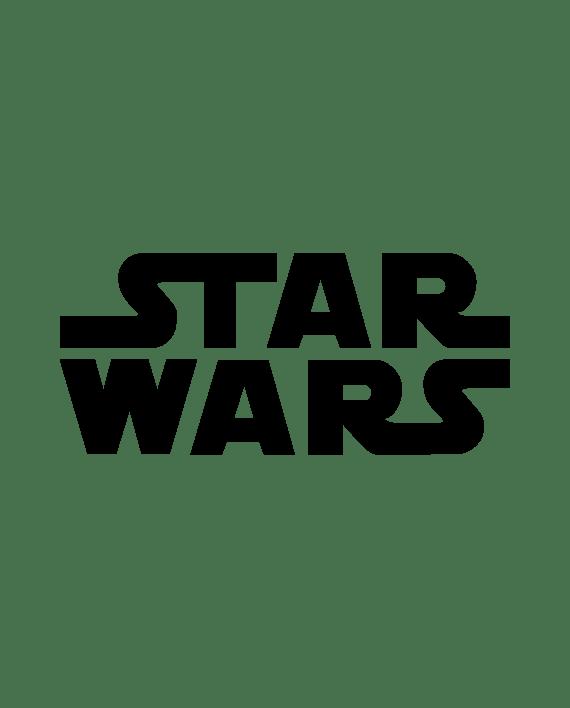 pegatina star wars logo