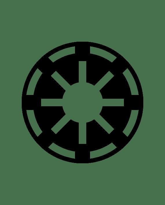 pegatina star wars republica galactica