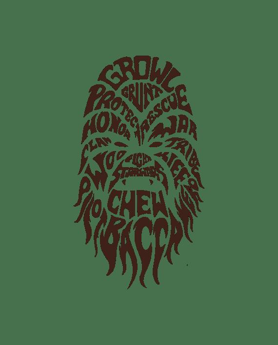 vinilo decorativo star wars chewbacca