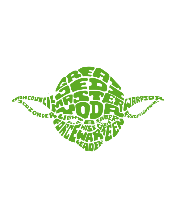vinilo decorativo star wars yoda