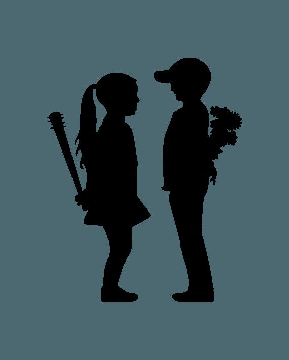 vinilo decorativo banksy niños con flores y bates
