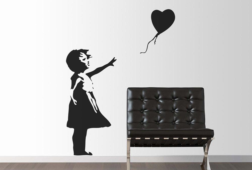 vinilo decorativo banksy niña globo corazón