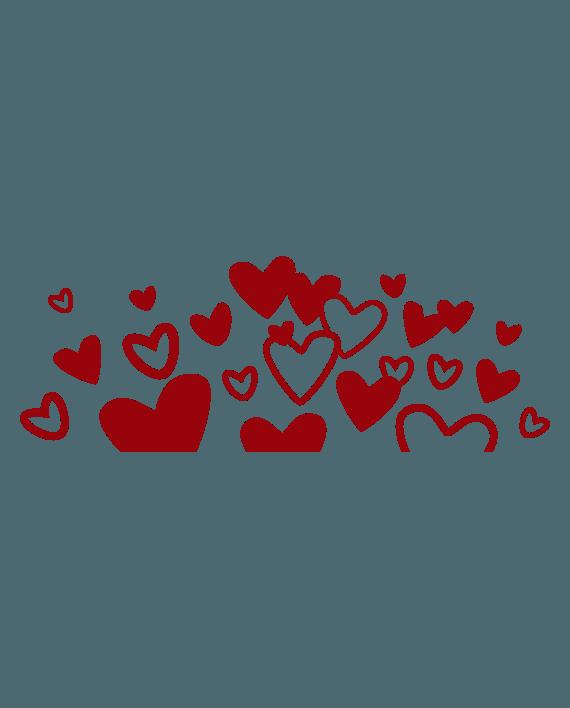 vinilo decorativo corazones en el aire