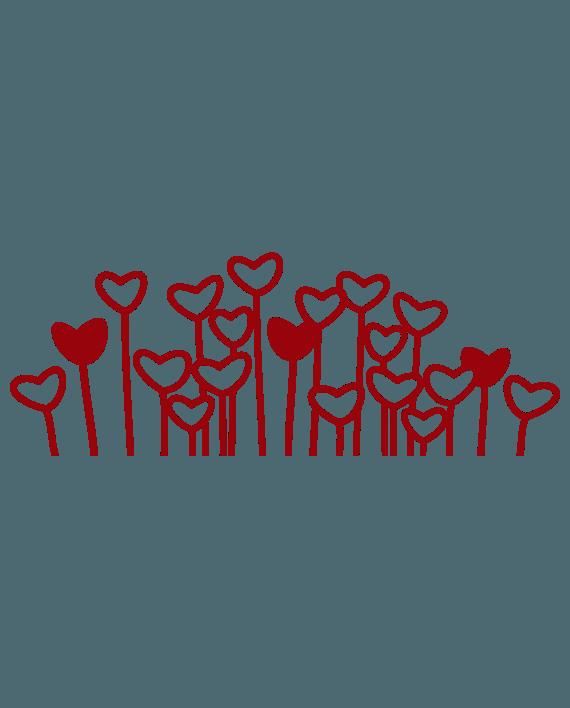vinilo decorativo corazones en flor florazones