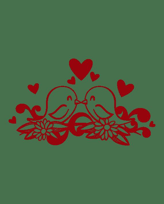 vinilo decorativo pajaritos enamorados