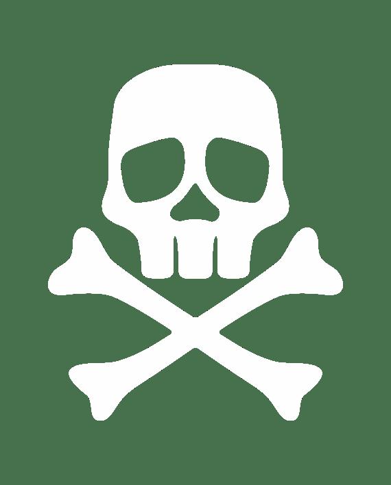 pegatina capitan harlock calavera pirata