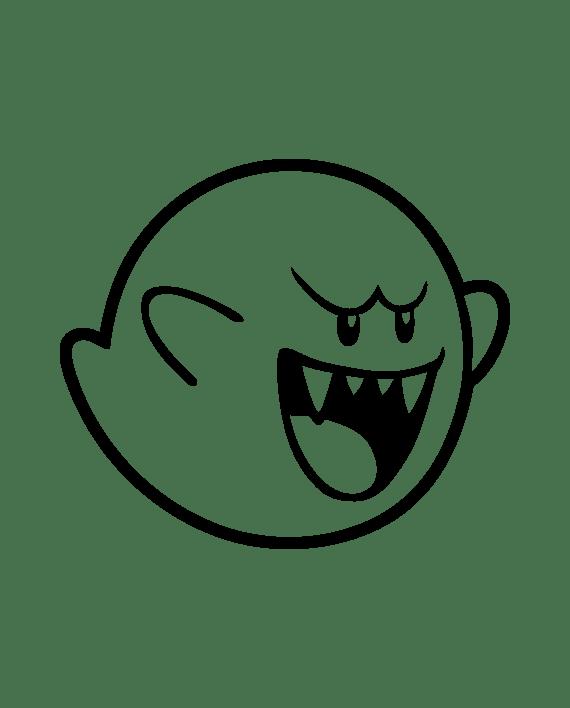 pegatina boo fantasma mario bros